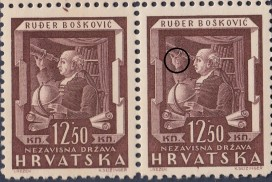 Postage stamp type: Engraver's sign (S stands for Seizinger) on the right hand