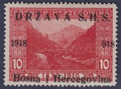 SHS Bosnia Herzegovina Yugoslavia postage stamp overprint error 918
