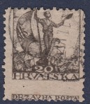 Yugoslavia Croatia 1919 postage stamp Shifted perforation
