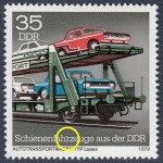 GDR postage stamp plate error rail vehicles