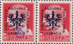 Provinz Laibach, overprint error: Dot under the letter C in LAIBACH