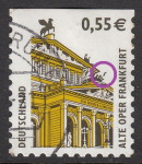 Germany, postage stamp plate error: Black stain in front of the quadriga