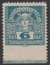 German-Austria Mercury newspaper stamp privately perforated