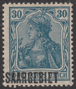 Germany Saargebiet postage stamp