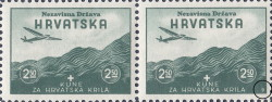Croatia, postage stamp type, aviation exhibition: Mark 9 in the lower right corner