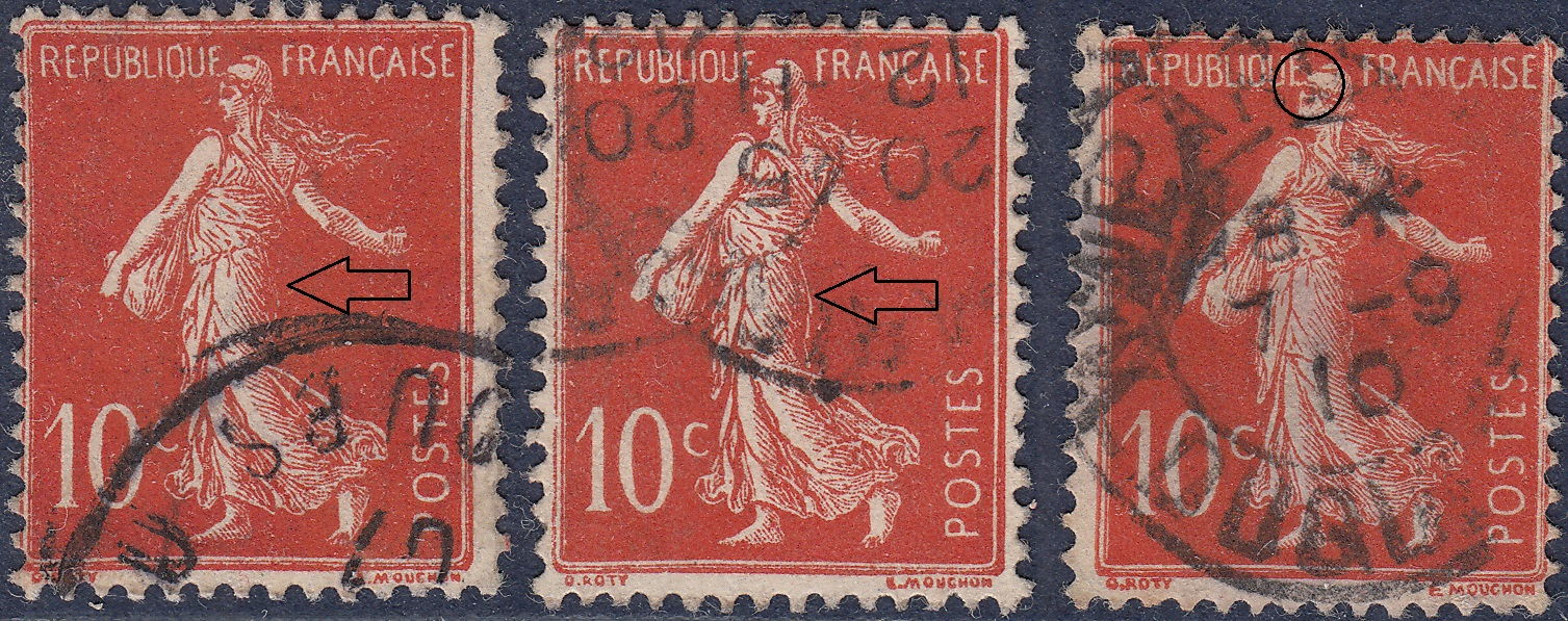 France, varieties and types on postage stamps – World Stamps