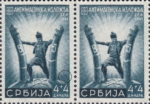 German occupation of Serbia, designer's mark: Letters CГ above denomination