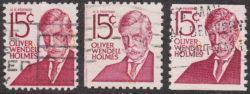 USA postage stamp Oliver Wendell Holmes Types I, II and III