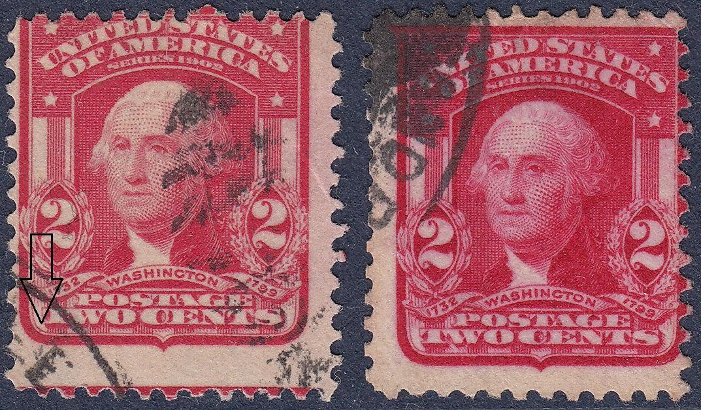2 Cents USA Postage Stamp Washington Types II And I