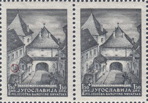 Yugoslavia 1941 philatelic exhibition Zagreb postage stamp mark S Seizinger