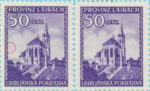 Provinz Laibach, plate error: Dot next to the left frame (stamp on the left)