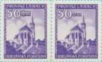 Provinz Laibach, plate error: Dot inside zero in denomination