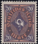 Germany, 1922 postage stamp type