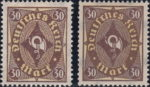Germany, 1922 postage stamps, 30 marks types posthorn