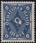 Germany 1922 posthorn stamps 6 marks type I