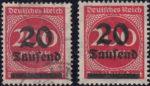 Germany post stamp overprint type