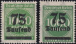 Germany hyperinflation postage stamp overprint type