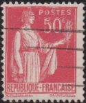 France, Peace stamp error: Printing shift