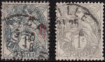 France, type Blanc stamp, IA and IB