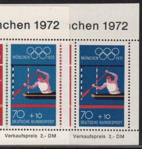 Germany, color nuances on souvenir sheet