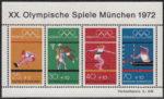 Germany 1972 games Muenchen souvenir sheet light blue color