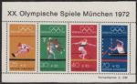 Germany 1972 games Muenchen souvenir sheet dark blue color