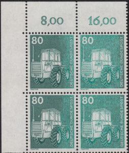 Germany, postage stamp error: underinking