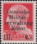 German occupation of Kotor: 4 Lit., small ä, small w