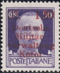 German occupation of Kotor: 1.50 Lit., large ä, small w