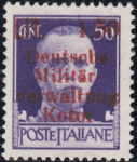 German occupation of Kotor: 1.50 Lit., small ä, large w