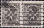 Croatia 1941 provisional stamp issue overprint error color