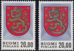 Finland postage stamp types: types I and II