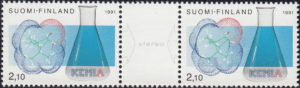 Finland Chemists society postage stamp types