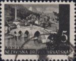 NDH postage stamp error: white spot on the bridge