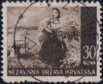 Croatia postage stamp 30 kn, Srijem