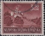Croatia postage stamp 3.50 kn, Trakoščan: spot on letter A