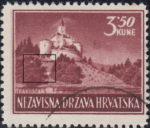Croatia postage stamp plate error 3.50 kn, Trakoscan