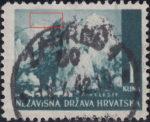 Croatia postage stamp 1 kn, Velebit: thin line in the sky