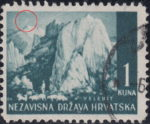 Croatia postage stamp 1 kn, Velebit: white line above the first mountain
