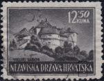Croatia postage stamp 12.50 kn, Veliki Tabor: White dot below letter S in HRVATSKA