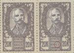 SHS Sovenija 20 krone stamp plate error: Letter J in KRALJEVINA missing (KRALEVINA)