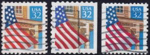 USA 1995 postage stamps flag types