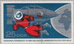 GDR postage stamp error: color spill