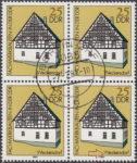 GDR postage stamp plate error, frame house, Weckersdorf