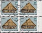 GDR postage stamp error, frame house, Pillgram