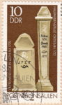 GDR postage stamp error, post milestones, small letter i