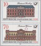 GDR postage stamp error historic post office Weimar