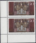 Germany postage stamp plate error: White spot on the altar to the left