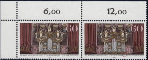 Germany postage stamp plate errors