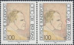 Otto Dix postage stamp error: Letter X in DIX broken